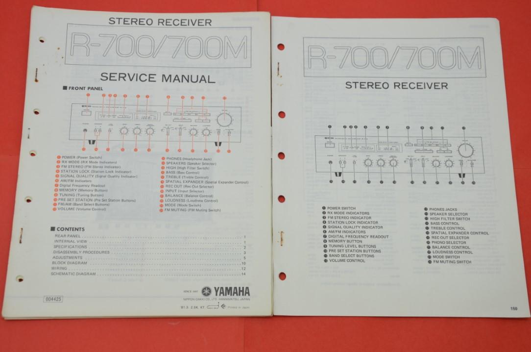 Details zu Originale Service Anleitung und Schaltplan Yamaha R-700/R-700M on